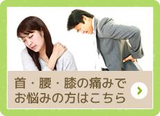 首・腰・膝の痛みでお悩方はこちら 指圧・整体治療について